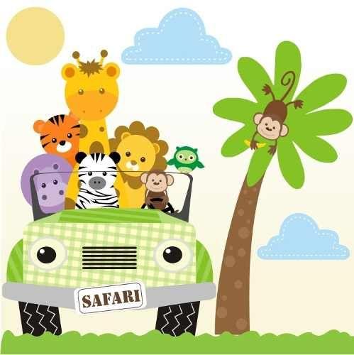 Adesivo Safari ~ adesivo safari decorativo parede safari infantil bebe zoo IMPRIMIR Pinterest Adesivo