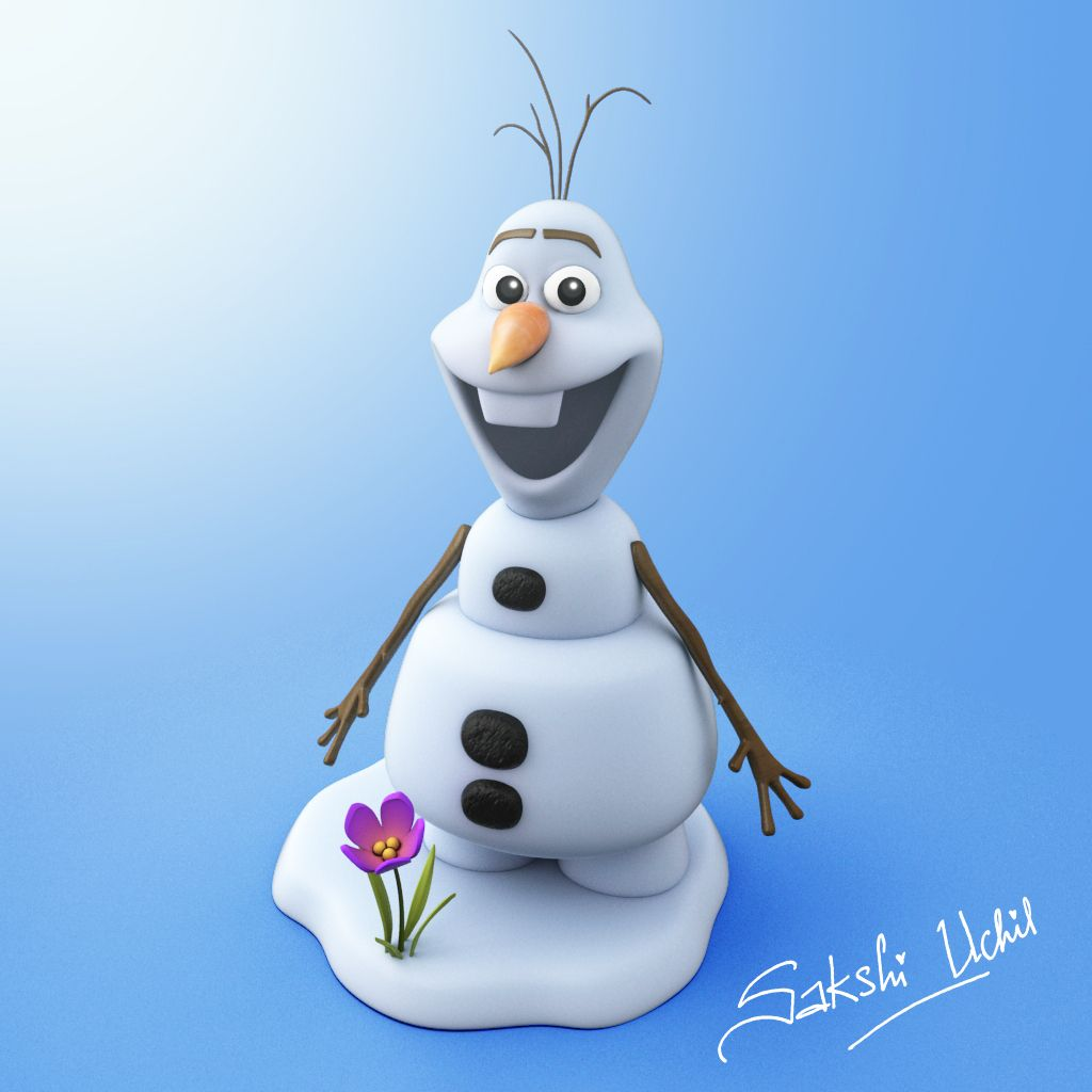 Character Concept Design Maya And Vray : Olaf frozen character from the disney movie modelled by
