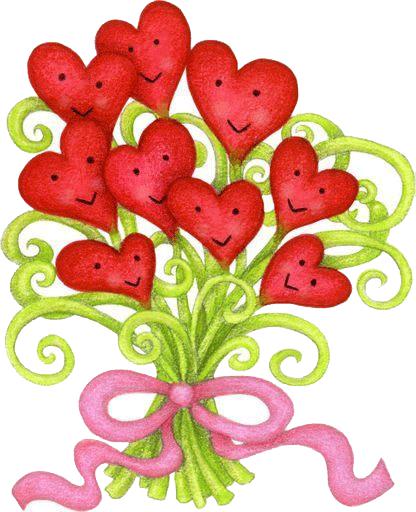 Flores Con Forma De Corazon Para Imprimir Poemas Del Corazòn