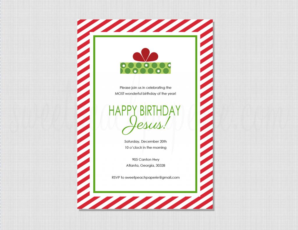 Happy Birthday Jesus Invitation Happy birthday jesus
