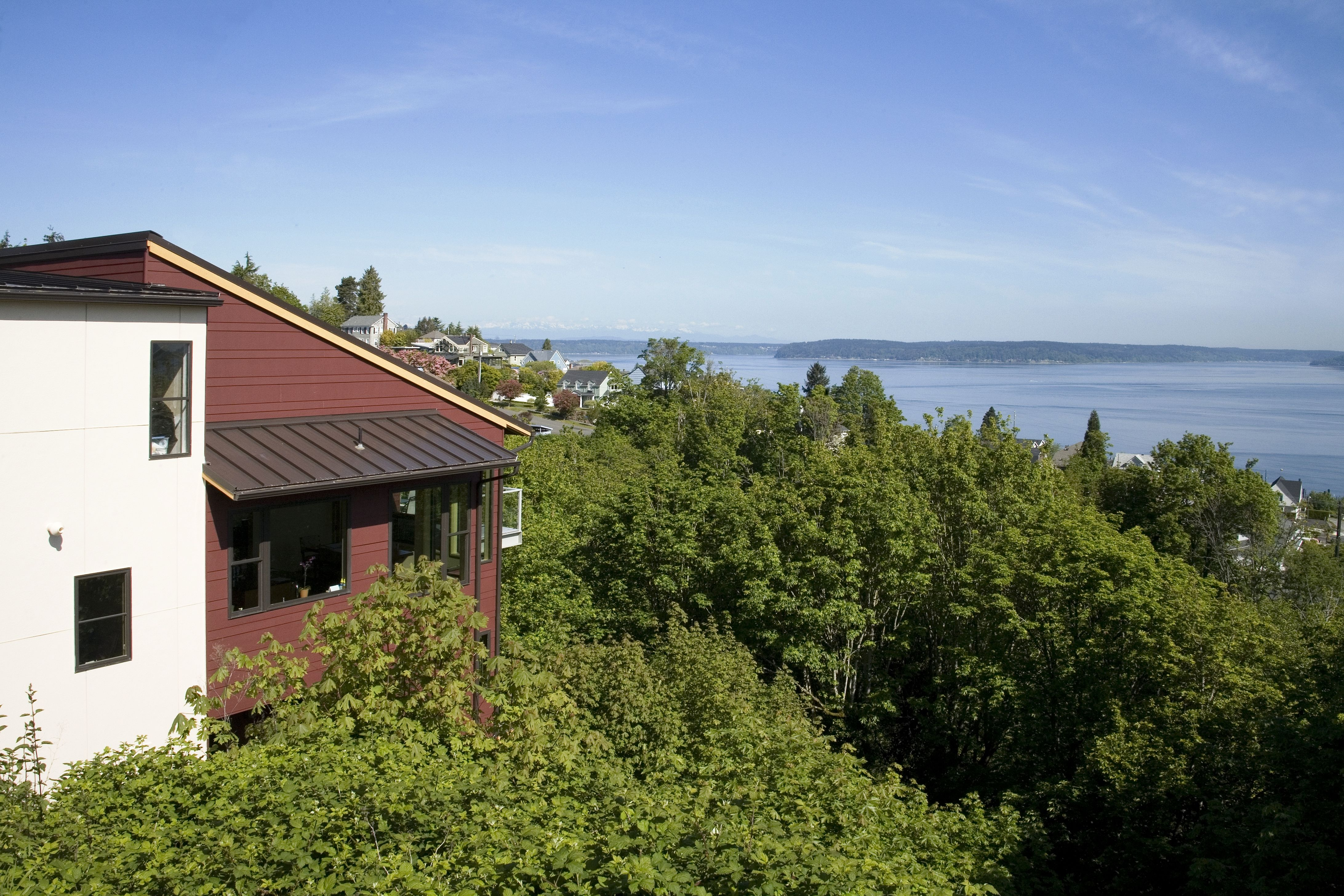 Choice Construction, Remodel, Custom Homes, Gig Harbor, Home Exterior, Modern, View