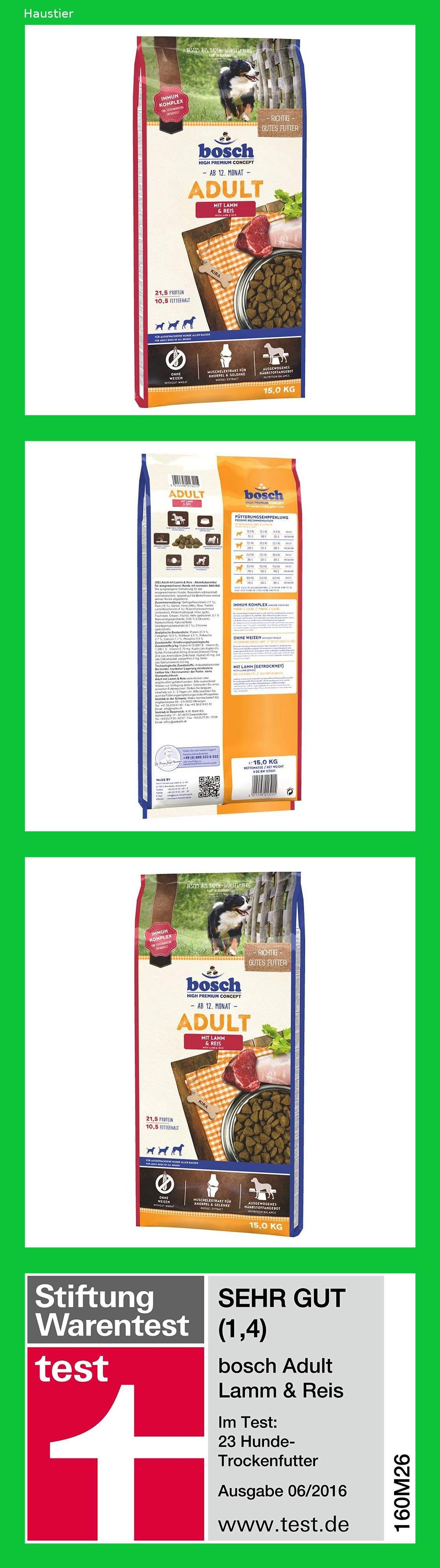 Bosch Hundefutter Adult Lamm Und Reis Bosch Hundefutter Hundetrockenfutter Und Hundefutter
