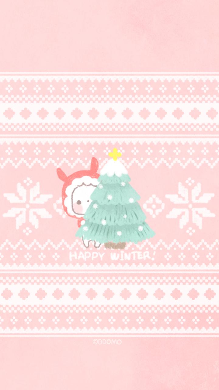 Winter iPhone wallpapers cartoon art. Tap to see more Korean