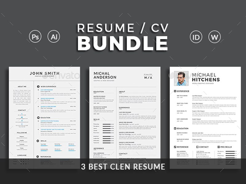 "What Font To Use On Resume Resume  Creative Touchs This Is Resumecv Bundle .""Resume Bundle ."