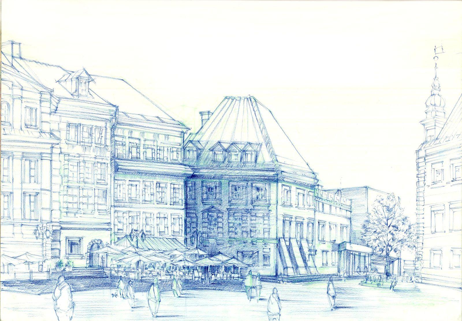 Warsaw - the Old Town, Wiktoria Łabudzińska on ArtStation at https://www.artstation.com/artwork/3mDYD