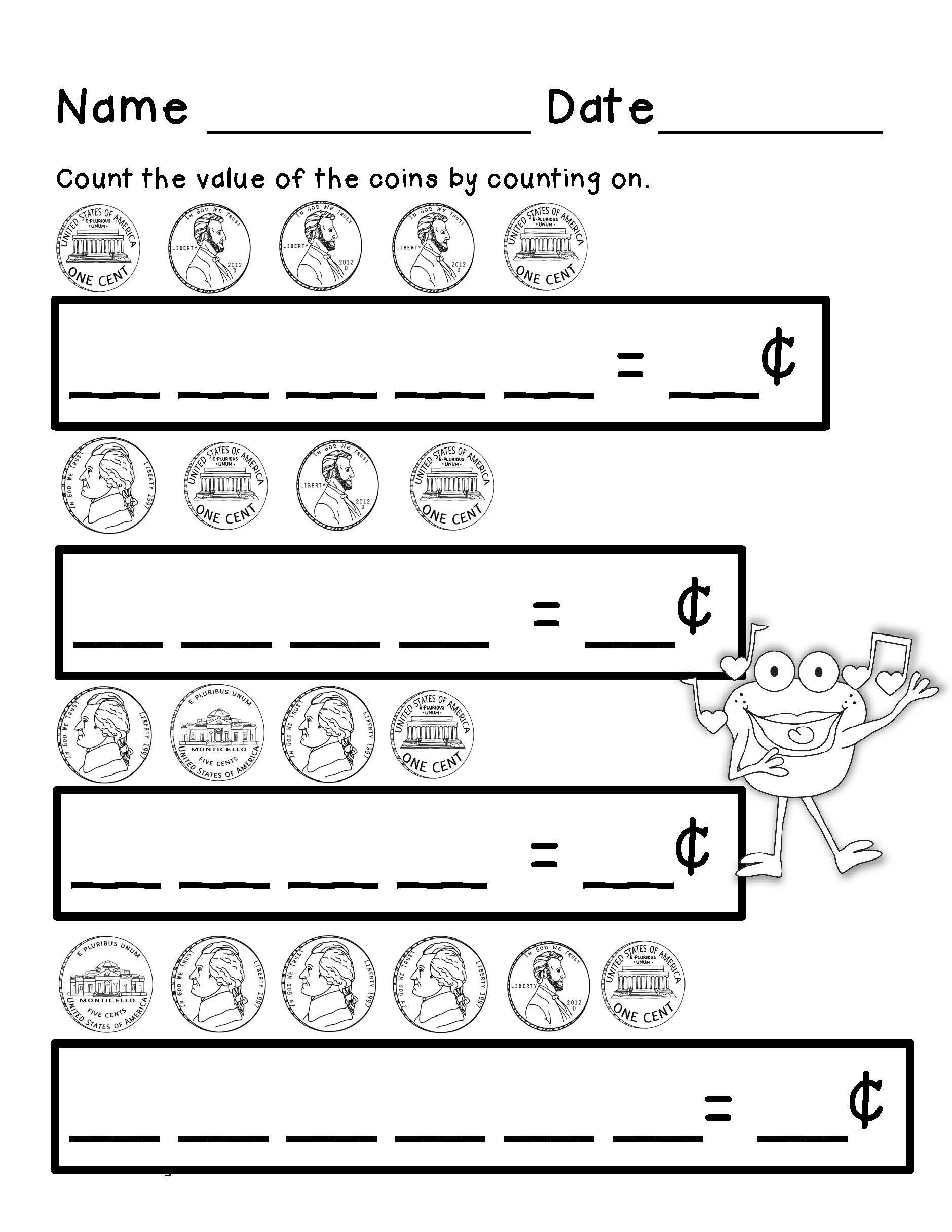 worksheet Money Practice Worksheets counting money telling time first grade math and money