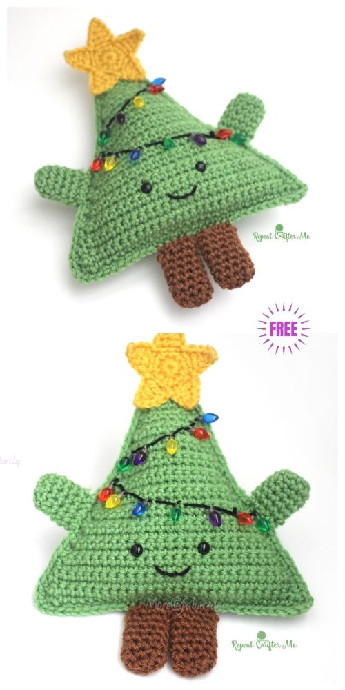 Amigurumi Crochet Cuddly Christmas Tree Free Patterns #amigurumicrochet