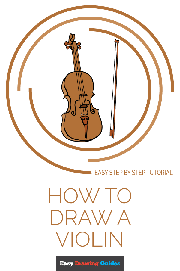 How To Draw A Violin Really Easy Drawing Tutorial Drawing And