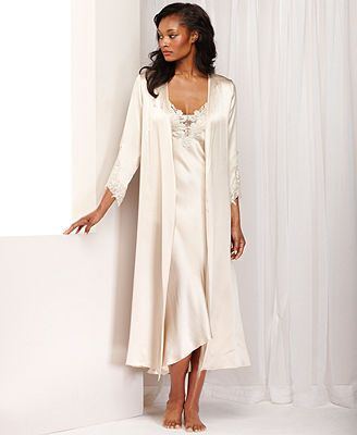Flora by Flora Nikrooz Stella Charmeuse Venise Trim Robe This one is Almond  but no pic! Macy s 13f3ec196