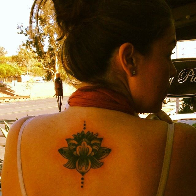 Got inked!!! In love with my lotus flower...