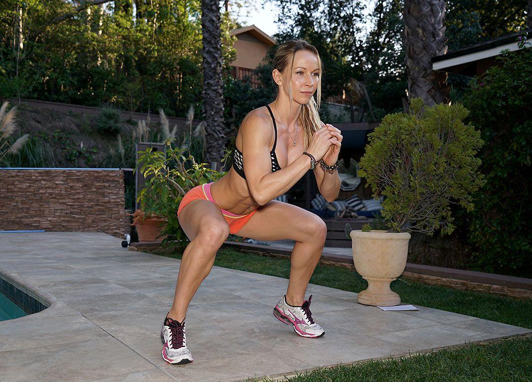 Women exercising upskirt