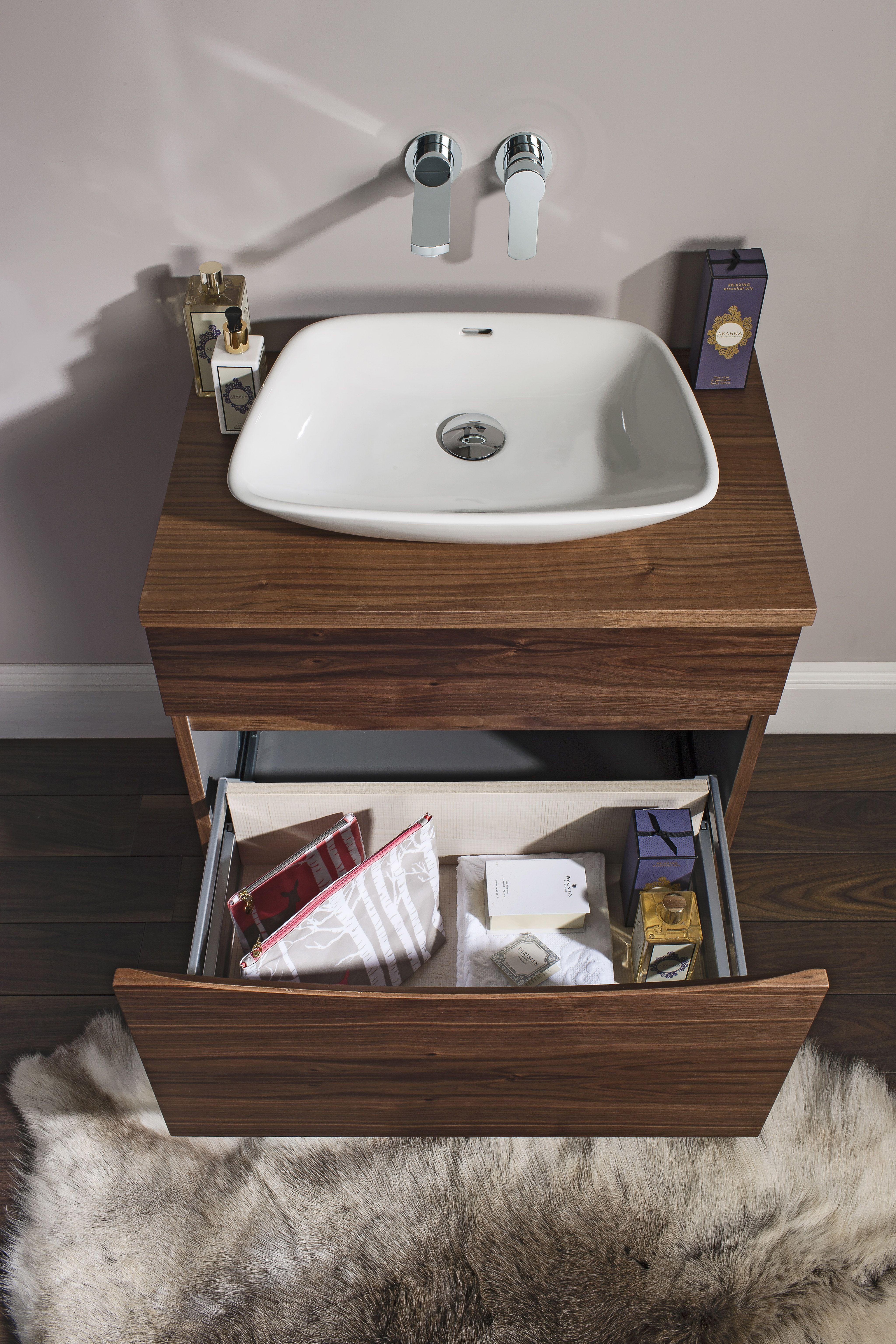 Glide Ii Bathroom Furniture Unit From Crosswater Http Www Bauhaus Bathrooms Co Uk Product Glide Ii American Walnu Basin Bathroom Furniture