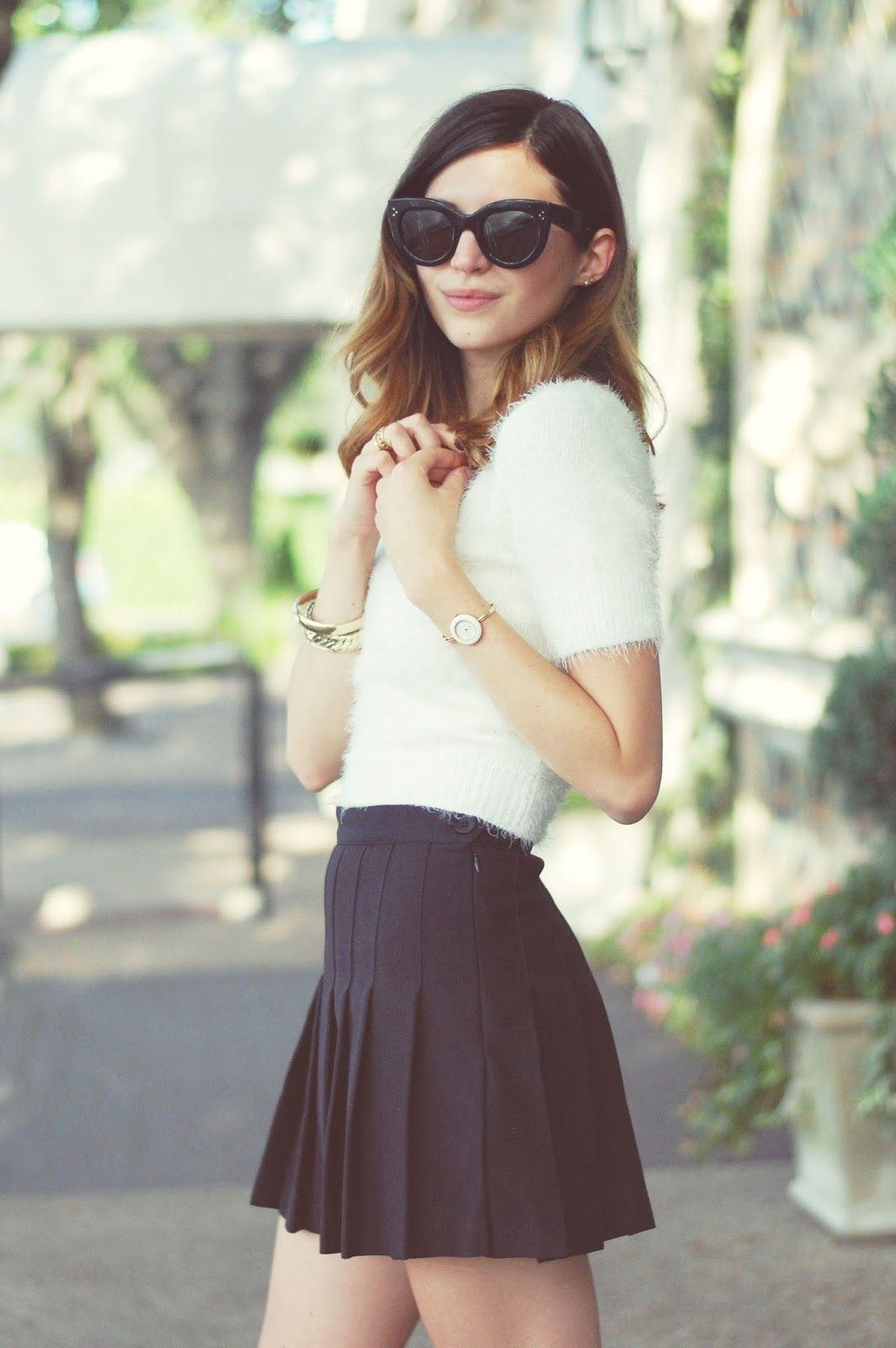 A Little Bit Preppy Fashion Tennis Skirt Outfit Skirt Outfits