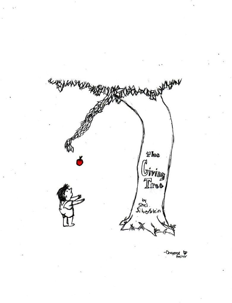 literary analysis of the book the giving tree by shel silverstein Lot 8 shel silverstein hardcover books, the giving tree, where the sidewalk  ends  the giving tree by shel silverstein - poetry childrens book - 1964 hd/ dj.