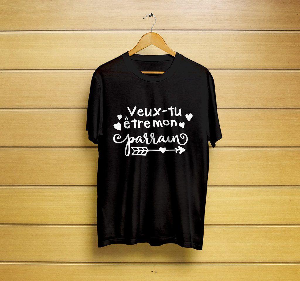 02bd2d00e Veux tu être mon parrain T-Shirt  veux  mon  parrain  tu ...