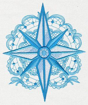 Aquarius - Compass design (UT11511) from UrbanThreads.com