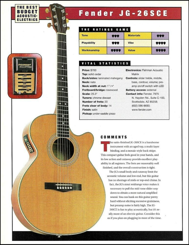 Fender Jg 26sce Epiphone Aj 18sce Acoustic Guitar Review Article With Specs Fenderepiphone Guitar Reviews Fender Guitar Amps Epiphone