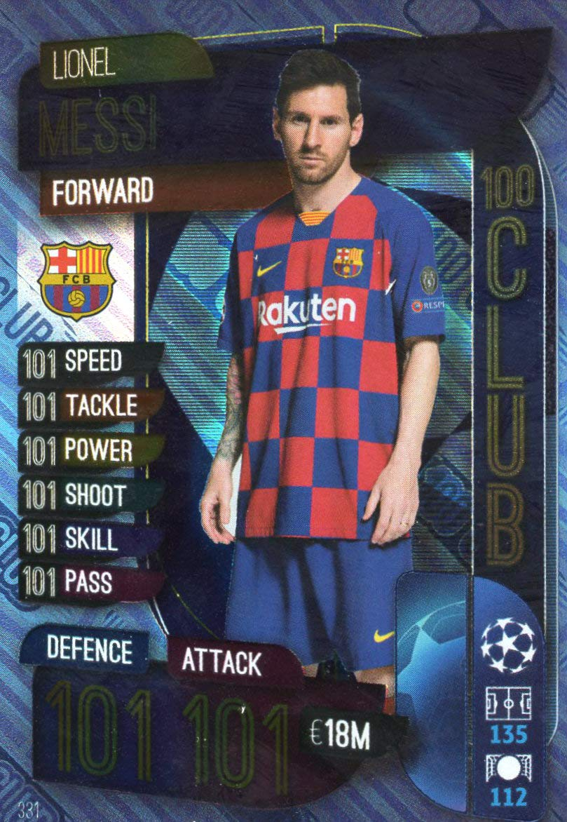 Match Attax 19 20 Lionel Messi 100 Club Match Attax Lionel Messi Messi