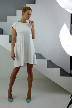 OLLA ecru jersey dress | YES TO DRESS by Bożena Karska | Mustache.pl | Moda, Design, Sztuka, Targi