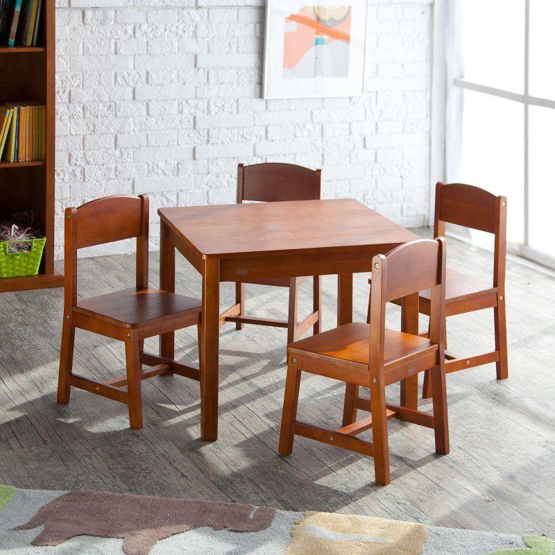 Outdoor Kidkraft Farmhouse Table And 4 Chair Set 21451