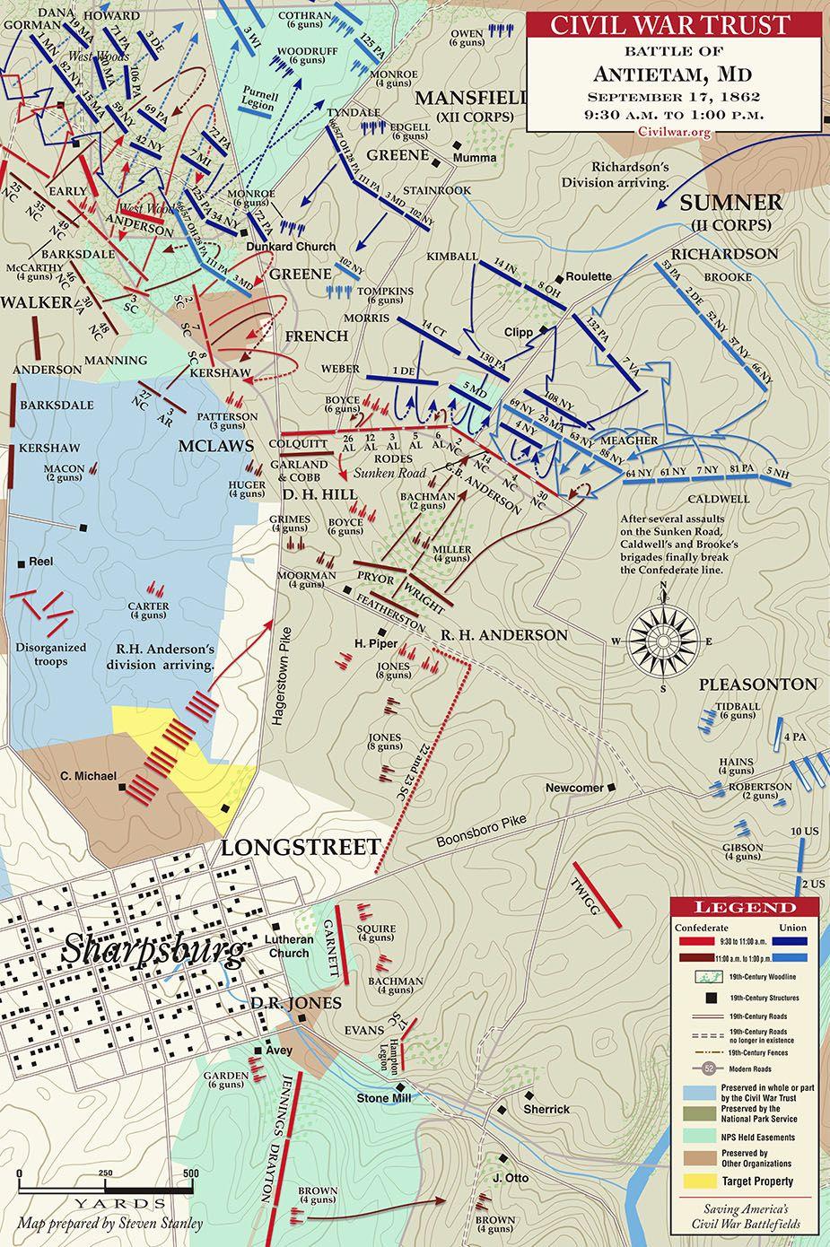idees maison map of antietam battlefield