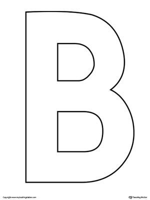 Uppercase Letter B Template Printable | Alphabet ... Capital B In Bubble Letters
