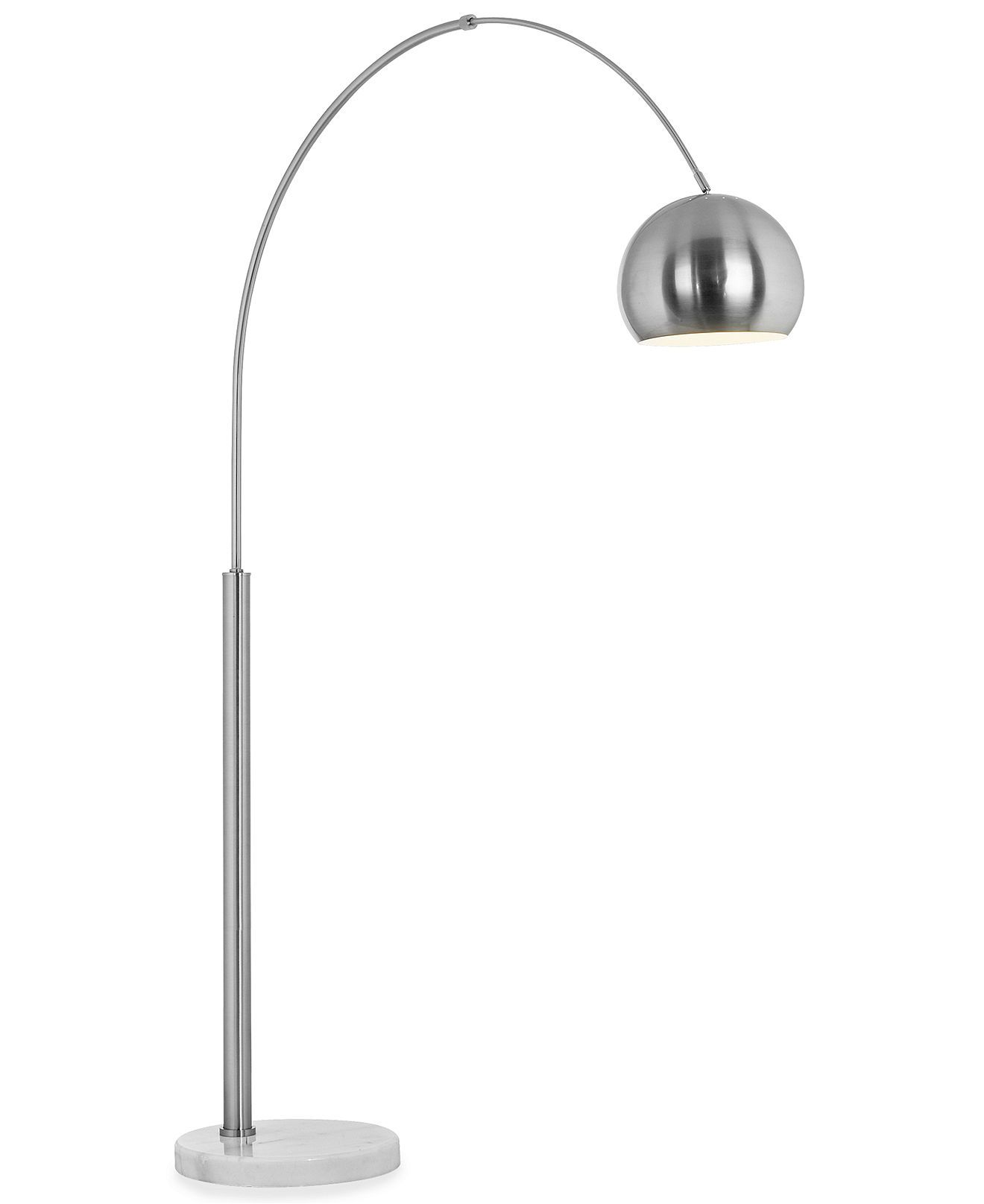 Pacific Coast Basque Arc Nickel Floor Lamp Floor Lamp