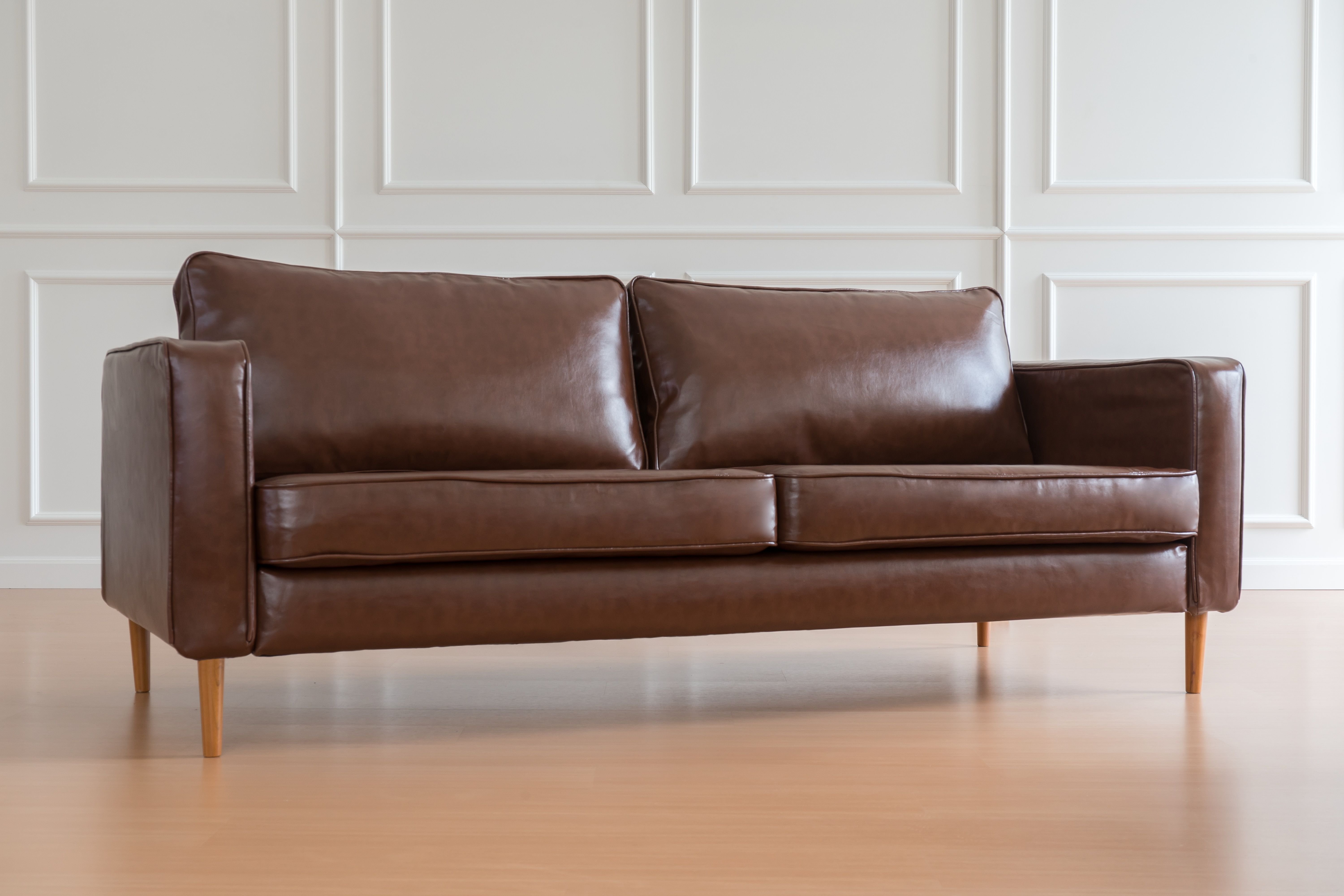 Slipcovers Made Of Leather So Keep Your Old Couch To Give It A New Look Leather Sofa Covers Leather Couch Covers Ikea Karlstad Sofa