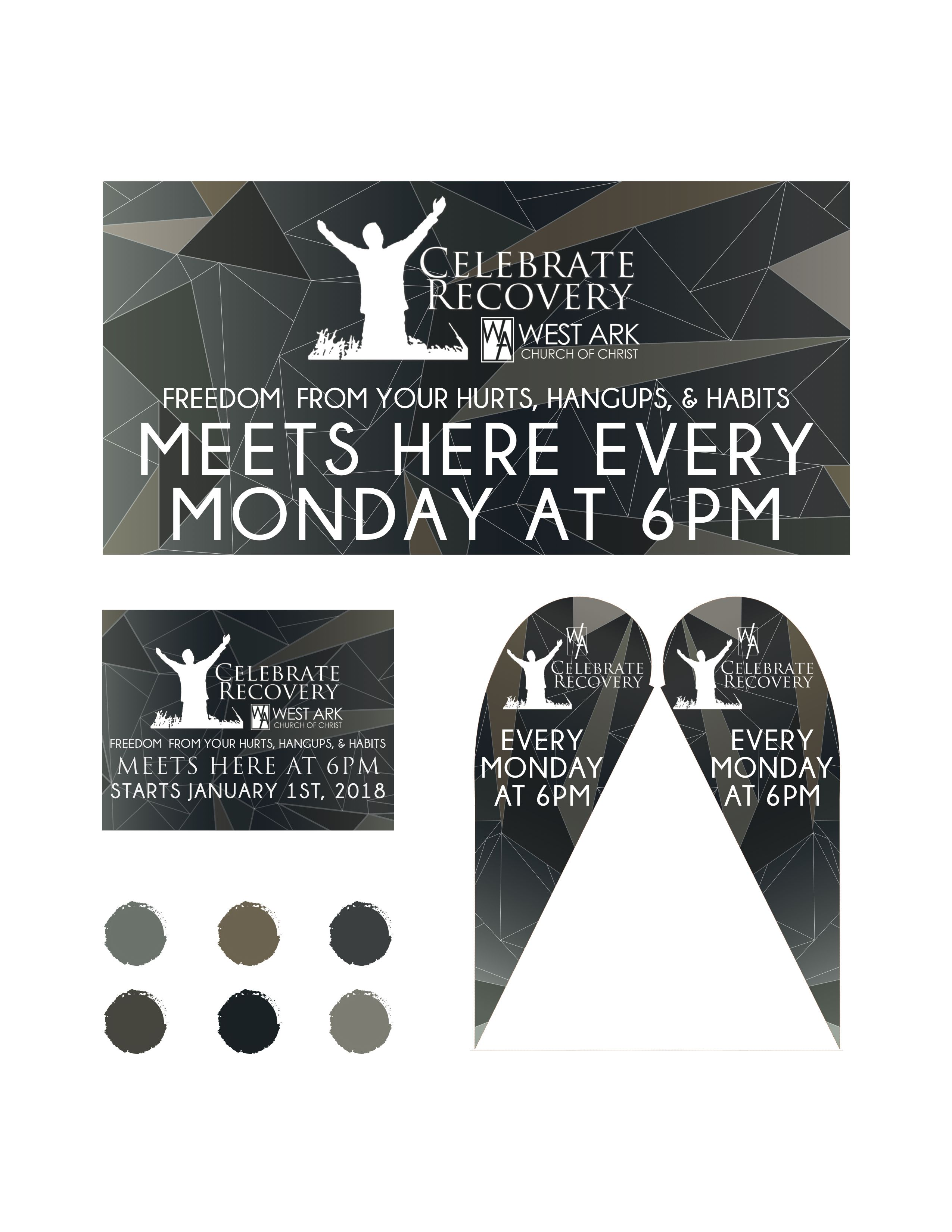 Consistent Design For Celebrate Recovery In Fort Smith Ar Graphicdesign Celebraterecover Bannerdesign Poster Sign Design Banner Design Celebrate Recovery