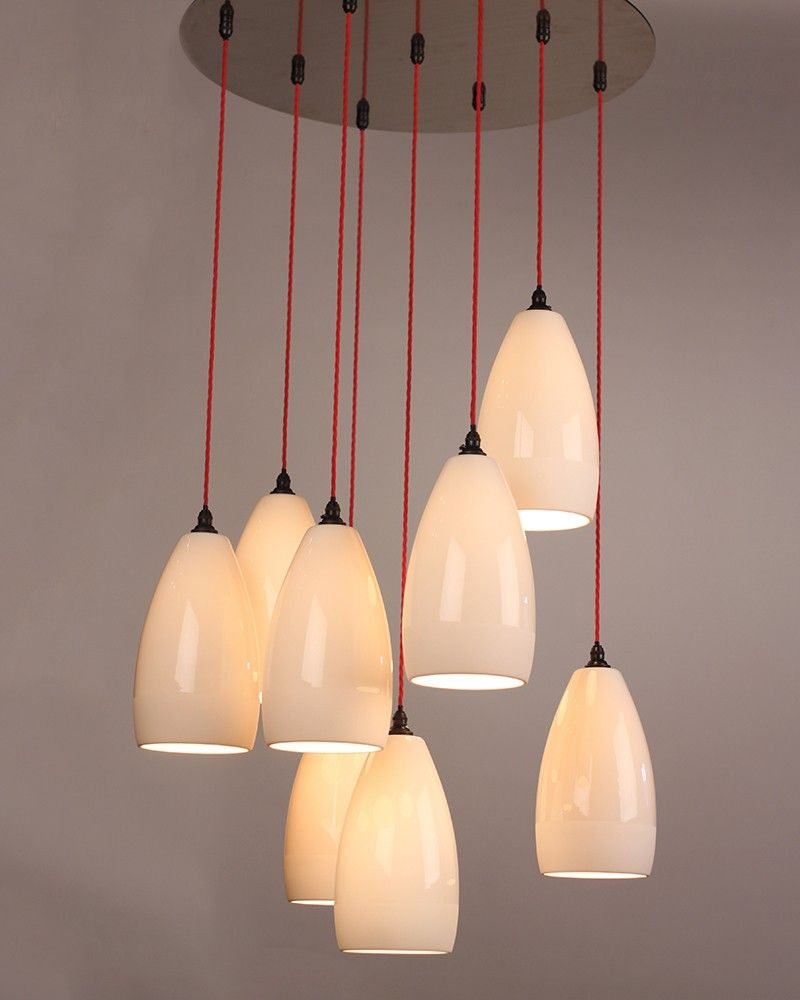 Cluster pendant light upton ceramic multi pendant cluster this stunning ceramic upton cluster chandelier makes a wonderful feature light in a stairwell or restaurant the ceramic shades are hung at different arubaitofo Image collections