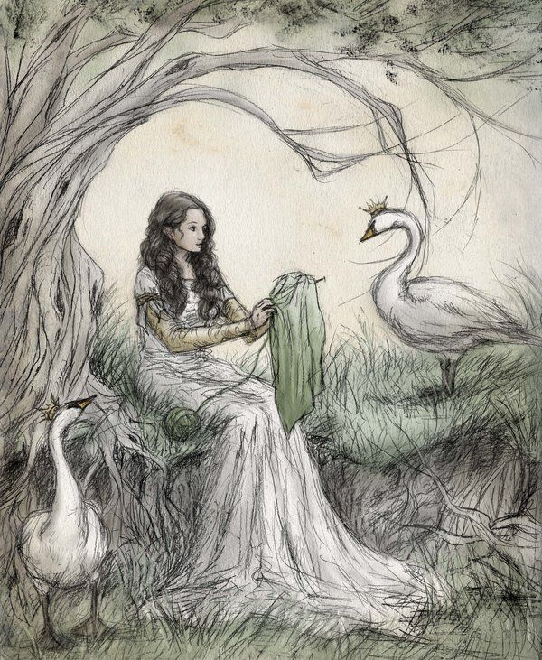 The Wild Swans by ejbeachy Fantastical Illustrations Andersen\u0027s