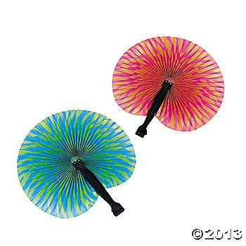 Bright Tropical Fans $3.50 (12 ct)