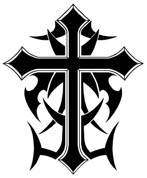 Cool Cross Designs Draw Tribal cross design | Templar Night Bike ...