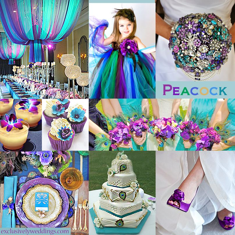 Purple wedding color combination options purple for Summer wedding color combinations