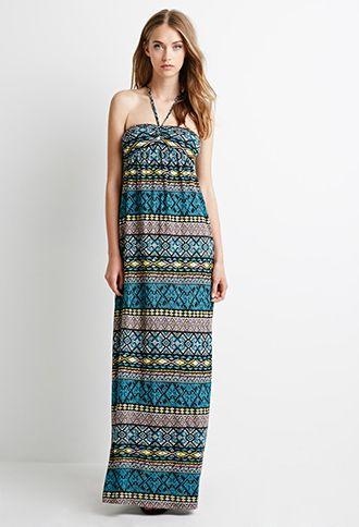 Tribal Print Halter Dress   Forever 21 - 2000079943
