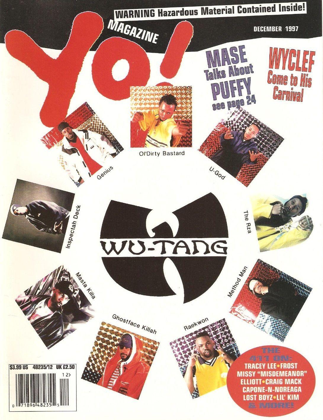 Wu tang clan yo magazine december 1997 rap in the 90s wu tang clan yo magazine december 1997 pooptronica