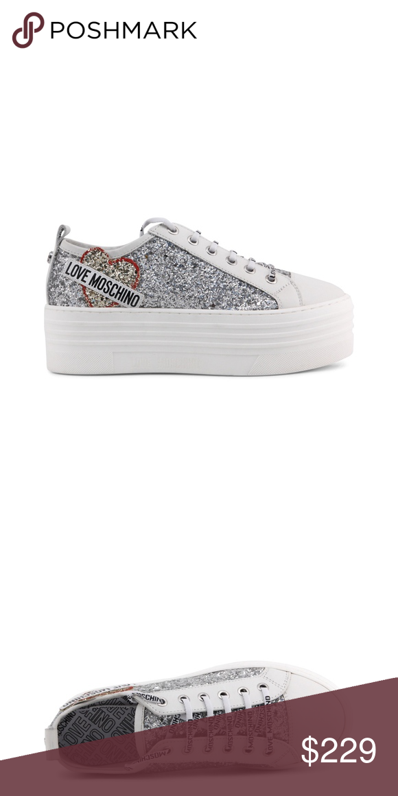 2c060b4a0f2 Love Moschino Silver glitter platform sneakers Gender Woman Type Sneakers  Upper synthetic materialleather