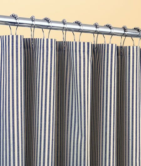 Ticking Stripes Shower Curtain From Country Curtains 76 X 50