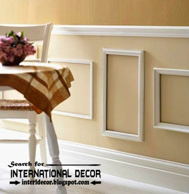decorative wall molding or wall moulding designs ideas - Moulding Designs For Walls