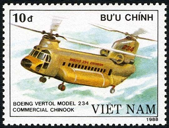 Sello: Boeing Vetrol 234 - Commercial chinook (Vietnam) (Helicopters) Mi:VN 2015