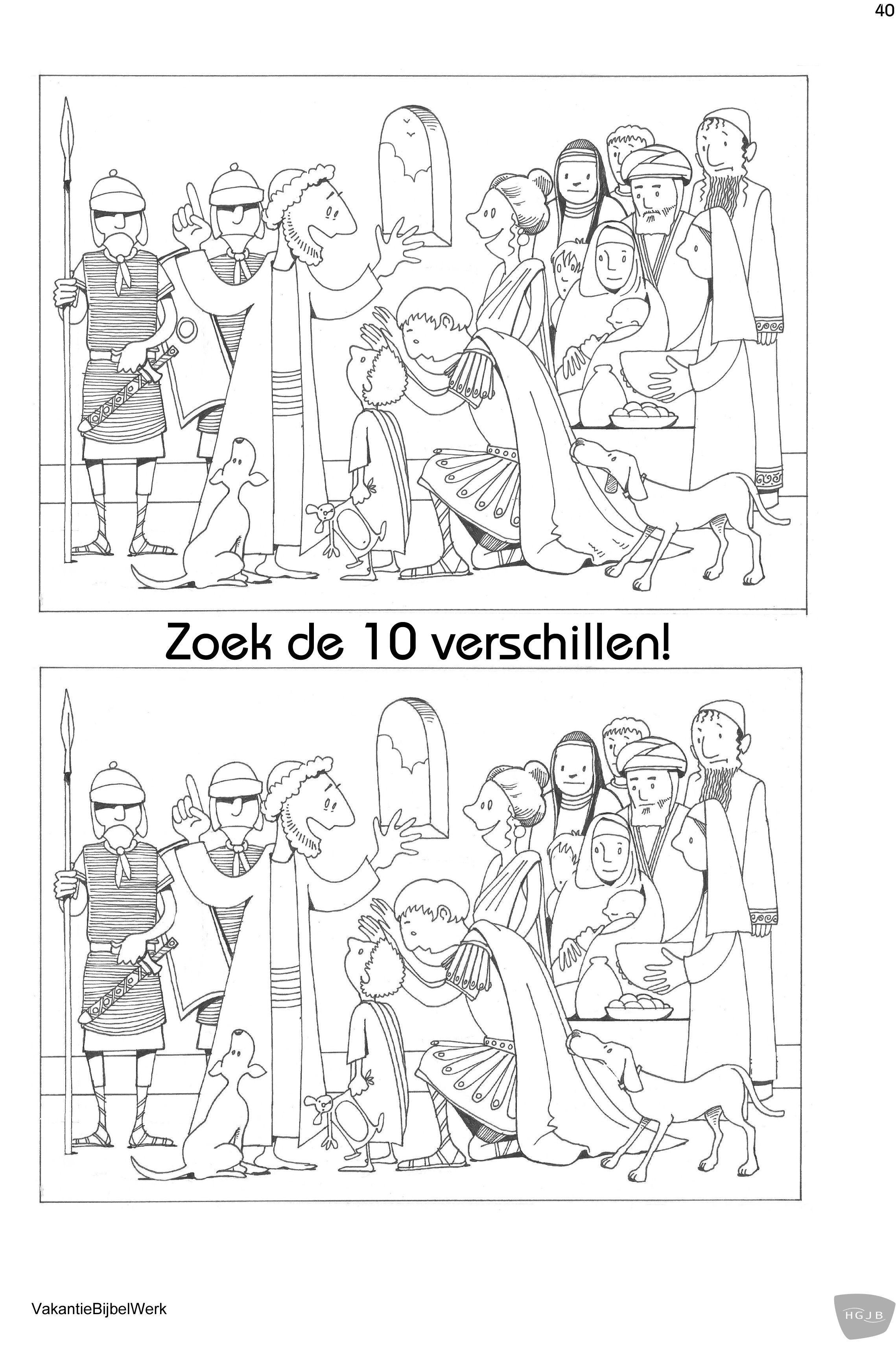zoek de 10 verschillen jezus en de centurion spot the 10