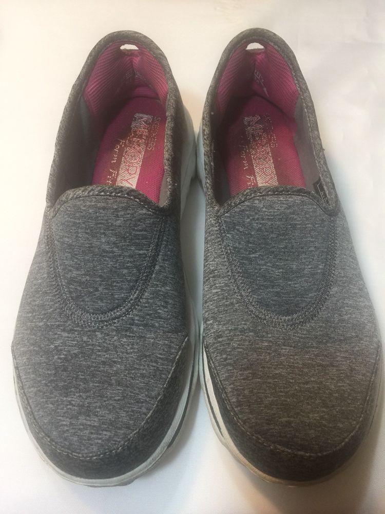 aa3b40f94fd89 Skechers Gowalk Memory Form Fit Gray Slip On Sneakers Size Women's 7  Resalyte | eBay