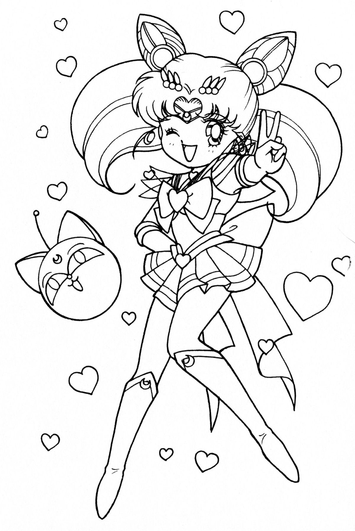 chibi moon coloring pages - photo#38