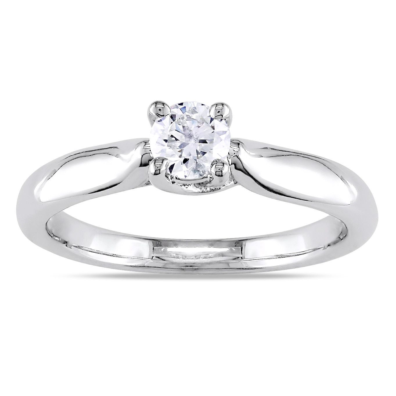 Miadora signature collection 14k white gold 1ct tdw diamond double row - Miadora 14k Gold 1 3ct Tdw Diamond Solitaire Engagement Ring H I I2 I3 White Size 9 Women S