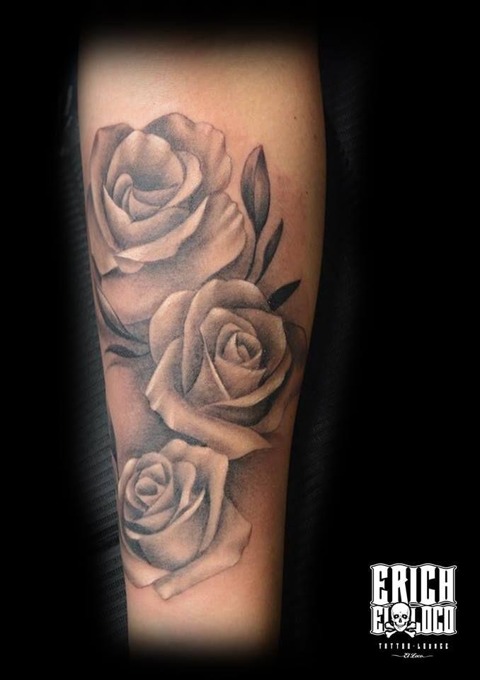 Rosen frau tattoo unterarm Rosen Tattoo