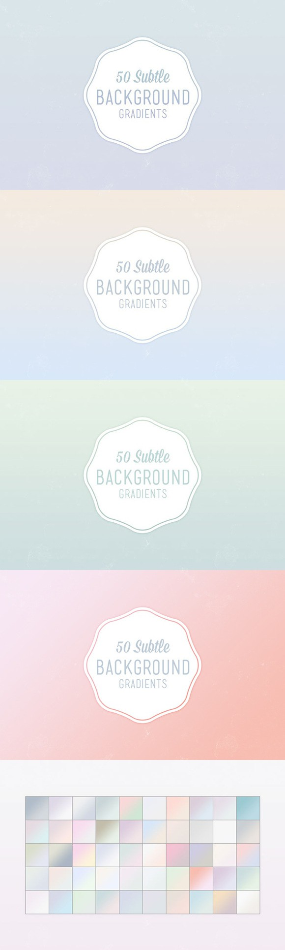 50 Subtle Background Gradients  Gradients  $8 00 | Gradients