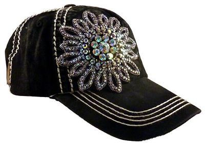 Glass Beaded Duo Tone Stitch Linen!! Olive and Pique Super Bling Ball Cap