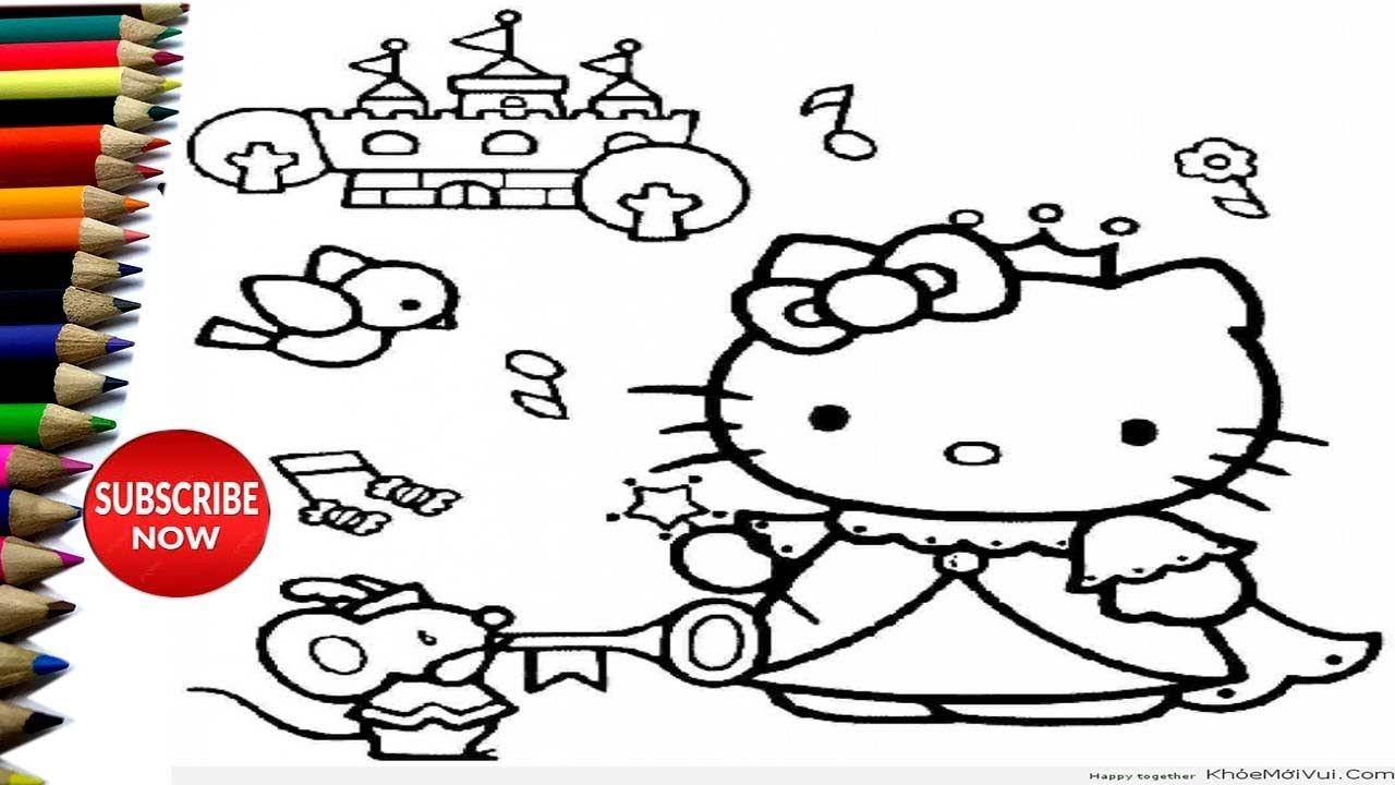 Pin On Menggambar Dan Mewarnai Hello Kitty