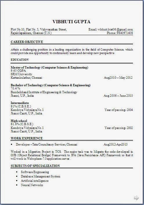 Resume For Freshers Captivating Curriculum Vitae Sample Word Sample Template Example Ofexcellent .