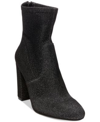 STEVE MADDEN Steve Madden Brisk Block-Heel Sock Booties. #stevemadden #shoes # all women